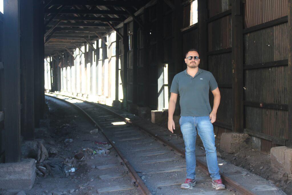 Antiga estrada de Ferro entre Mendoza e Santiago