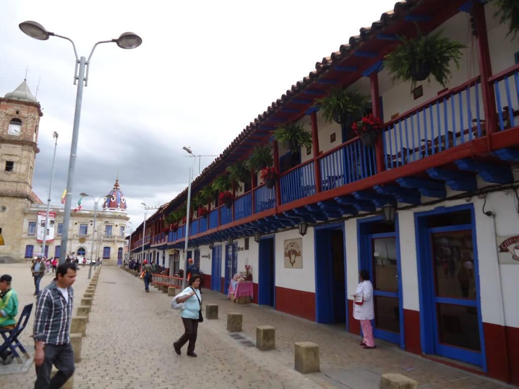 O centrinho histórico de Zipaquirá
