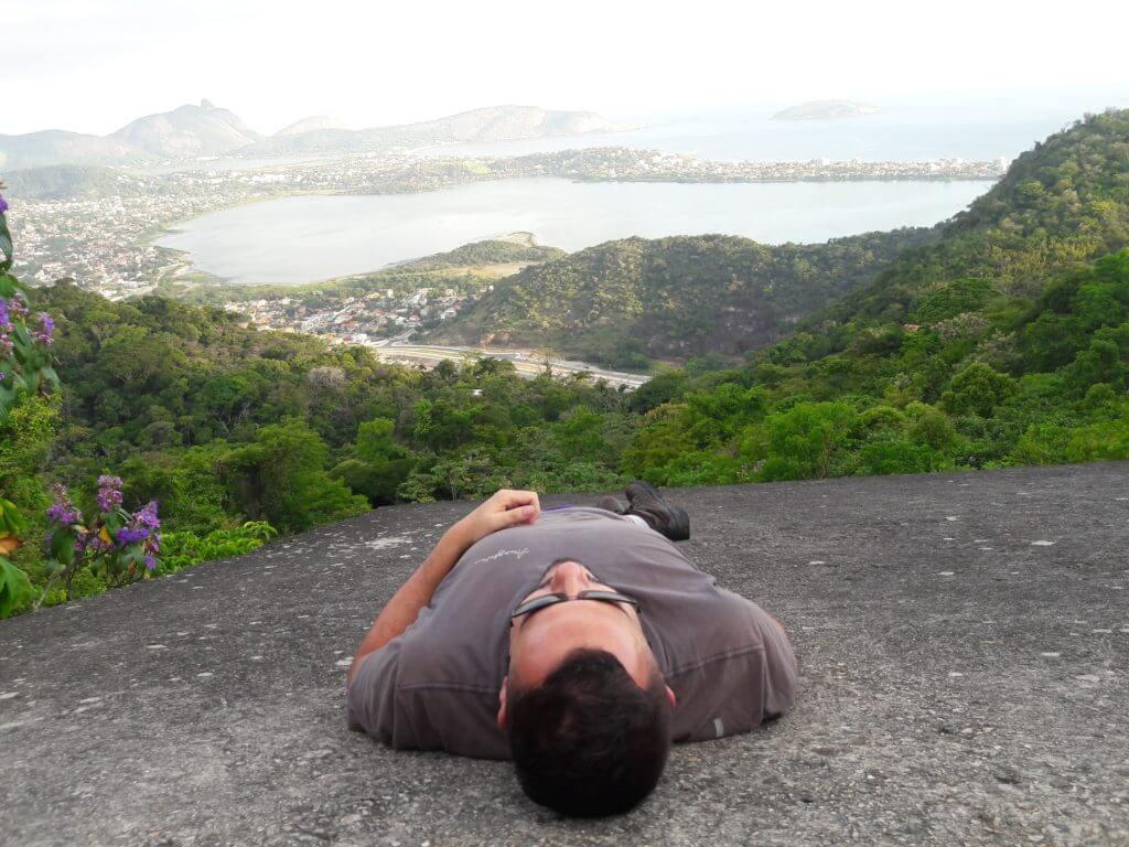Relaxando no Parque da Cidade em Niterói