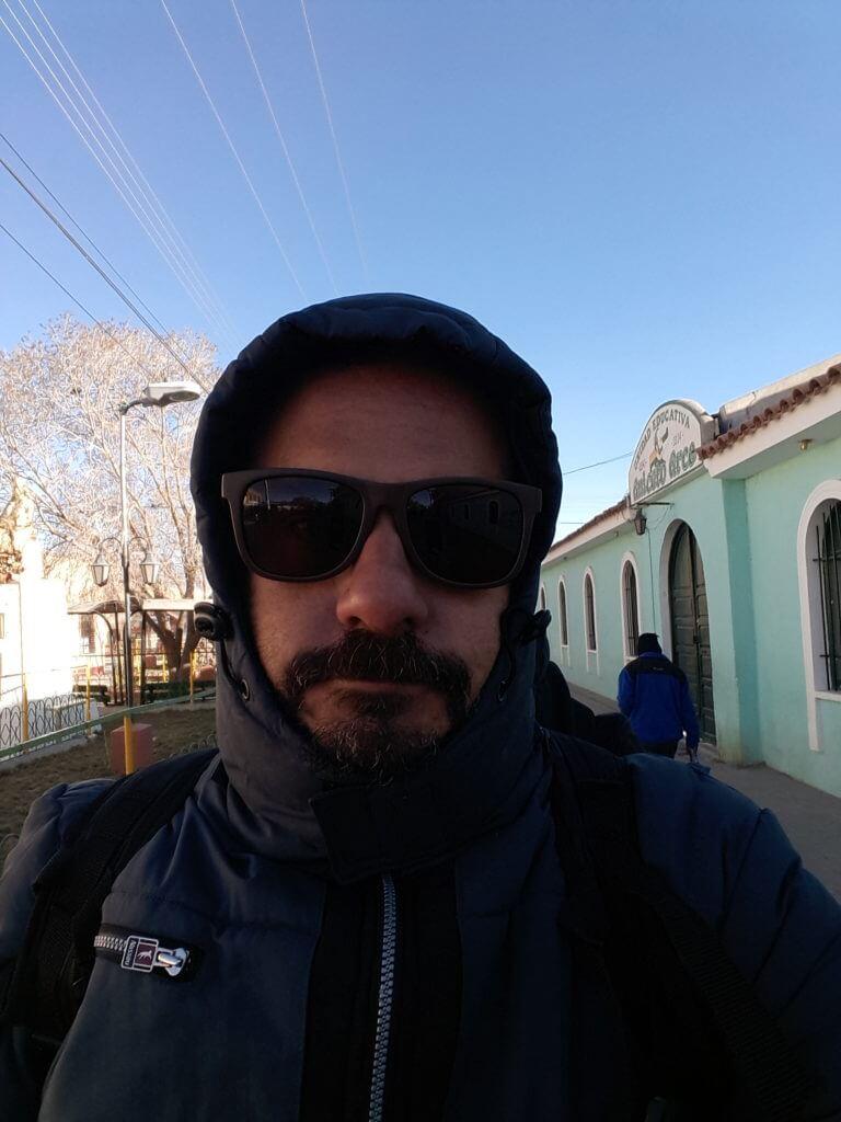 Caminhando pela gélida Uyuni