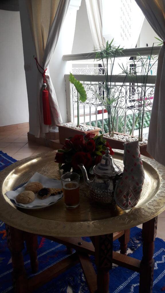O famoso chá de menta marroquino