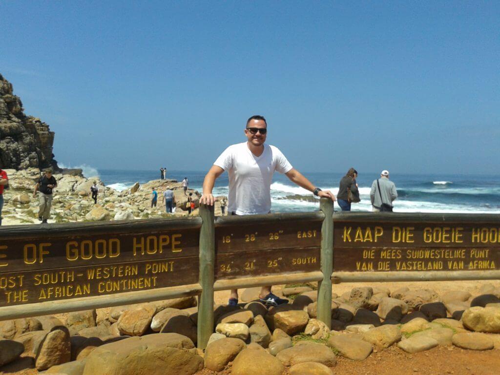 O dia que conheci o Cabo da Boa Esperança em Cape Town na África do Sul