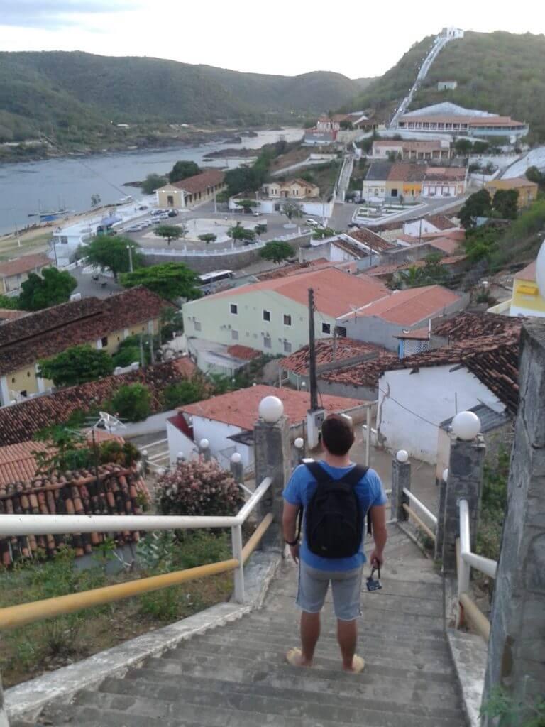 A vista da cidade de Piranhas desde o Mirante Secular