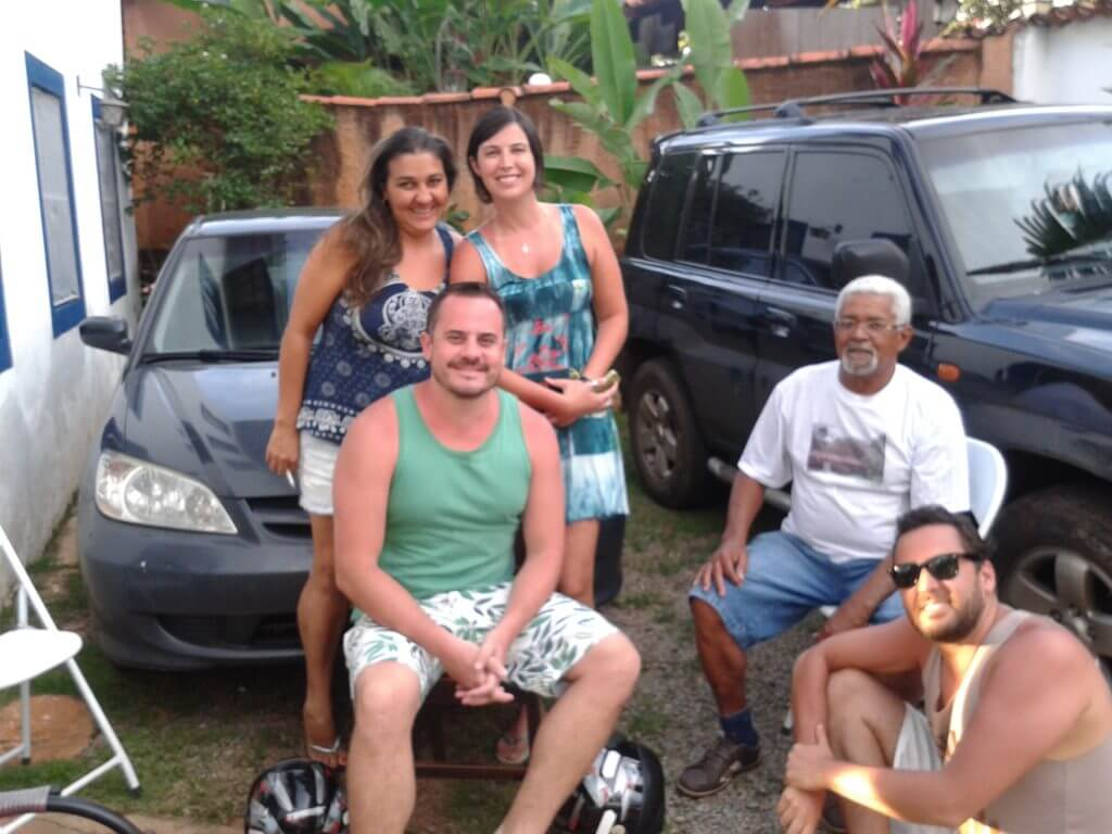 Bons papos goianos na simplicidade mas calorosa numa pousada que fiquei em Pirenópolis