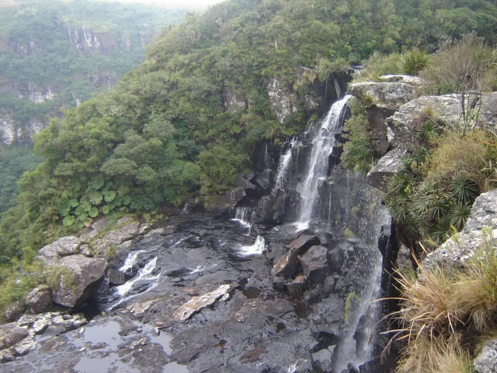 A cachoeira do Tigre Preto na região dos Cânions do Rio Grande do Sul