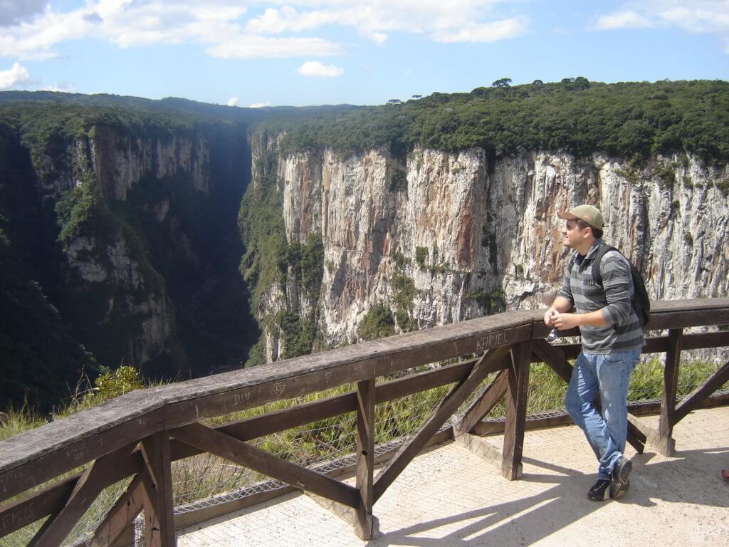 Os mirantes do Cânion Itaimbezinho na Região dos Cânions no Rio Grande do Sul
