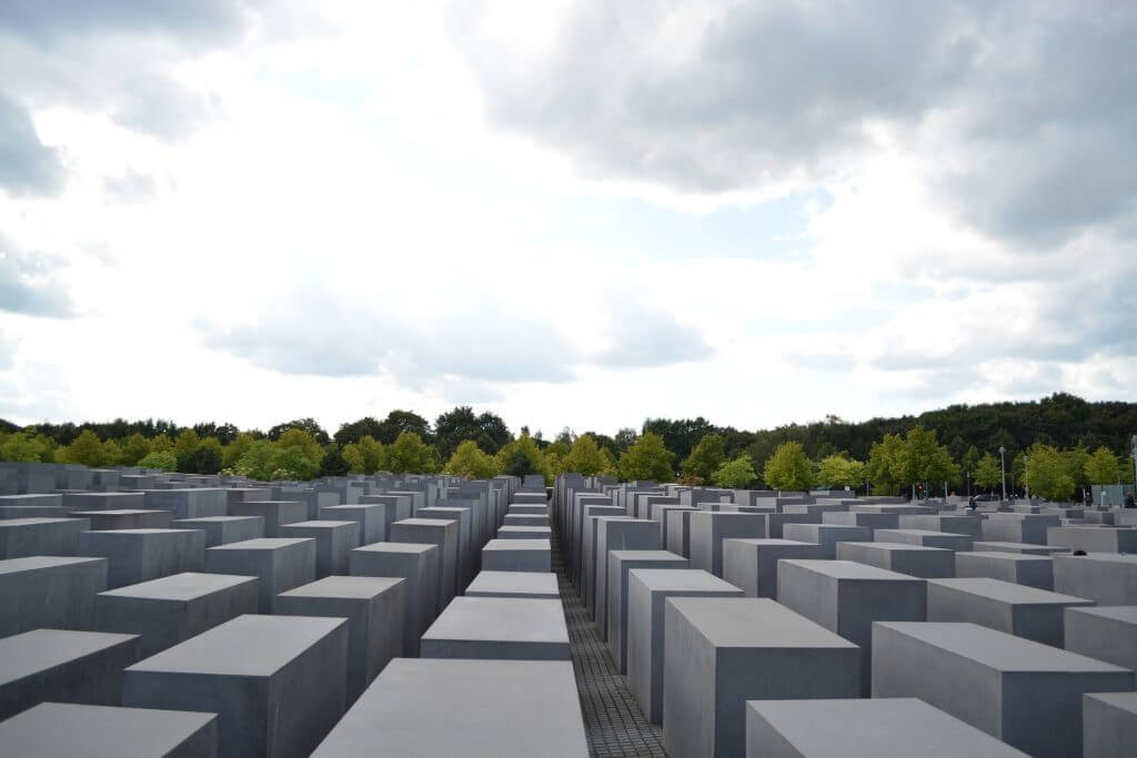 O Memorial do Holocausto em Berlin.