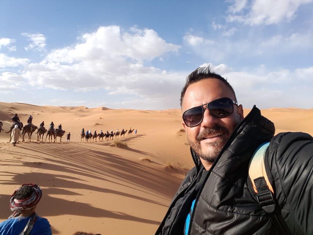 Nos sentimos nas antigas caravanas que cruzavam o Deserto do Saara