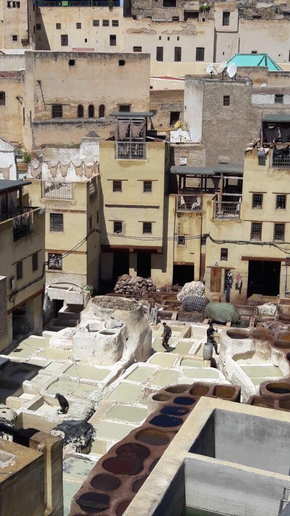 Os famosos curtumes de Fez