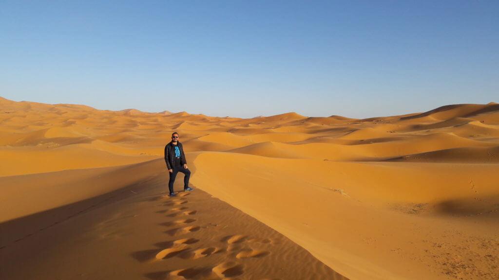As dunas de Erg Chebbi em Merzouga