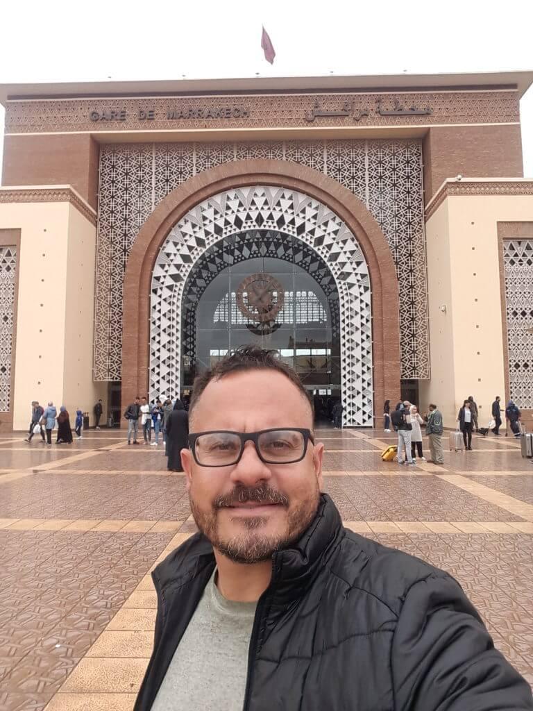 A estação de trem de Marrakesh é um espetáculo a parte