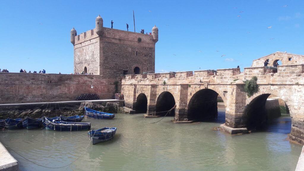 O Antigo Forte Português em Essaouira - antiga Mogador.