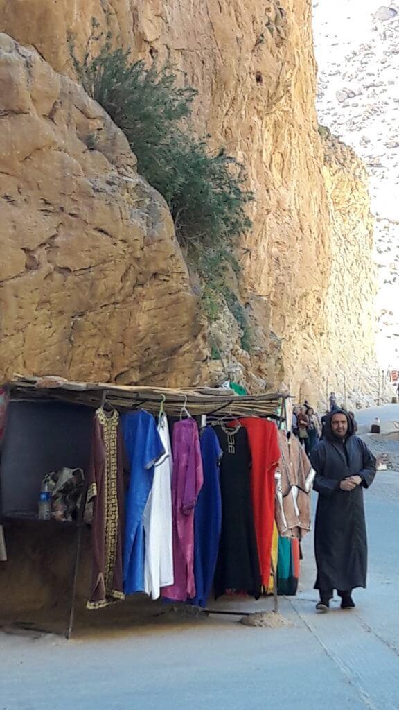 Os paredões que formam o Gorges du Todra