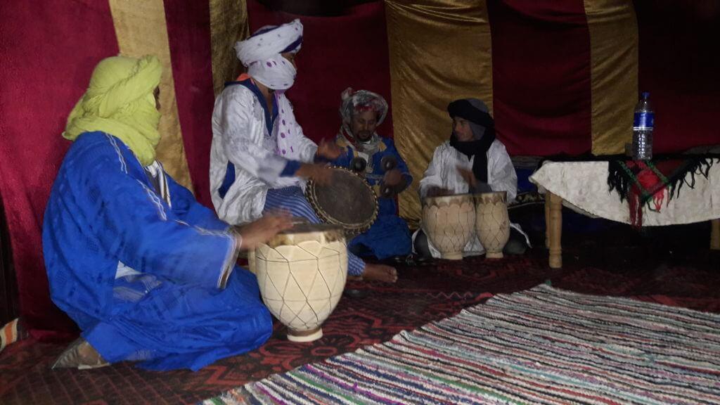 Jantar e música bérbere no jantar