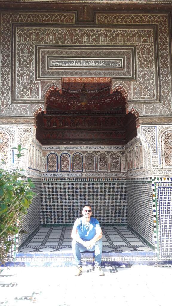 Momentos de tranquilidade nos jardins de Marrakesh