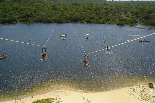 """A Lago de Jacumã com os """"aerobundas"""""""