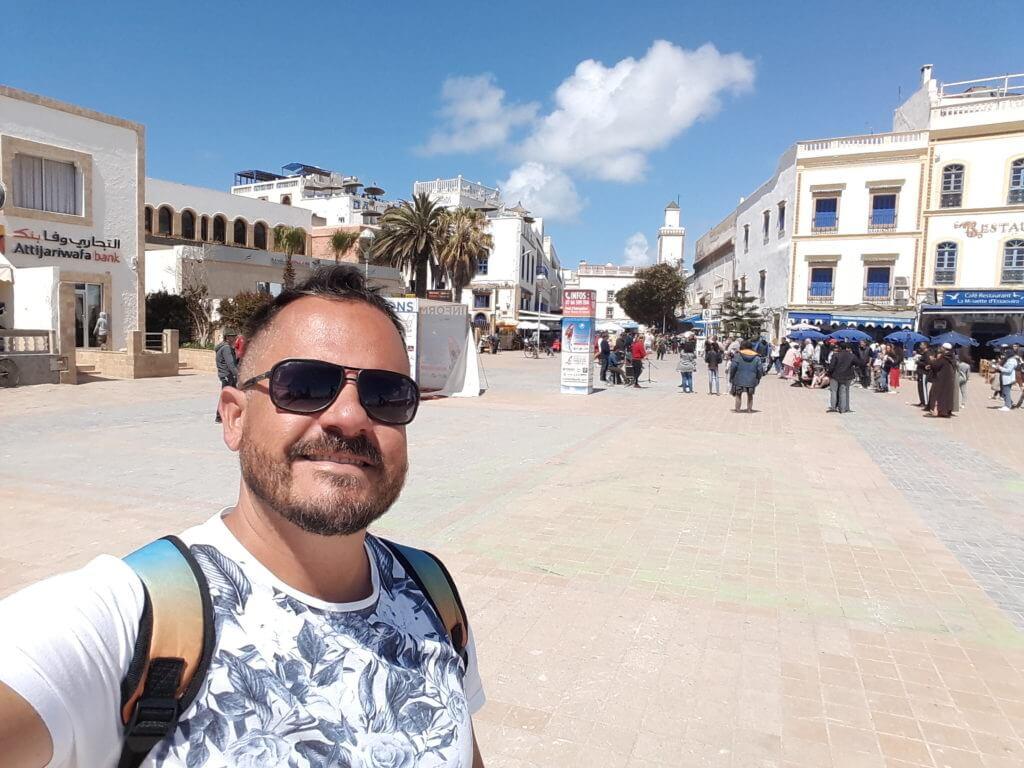 A medina de Essaouira tem ruas mais largas e mais agradáveis para caminhadas