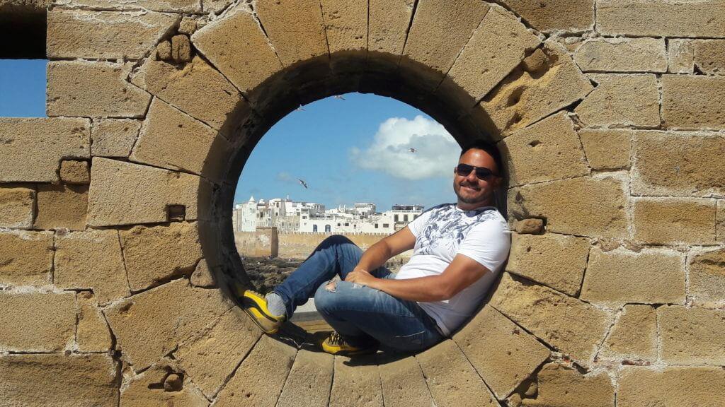 A vista da Medina de Essaouira desde do Forte Português - Essaouira no Marrocos