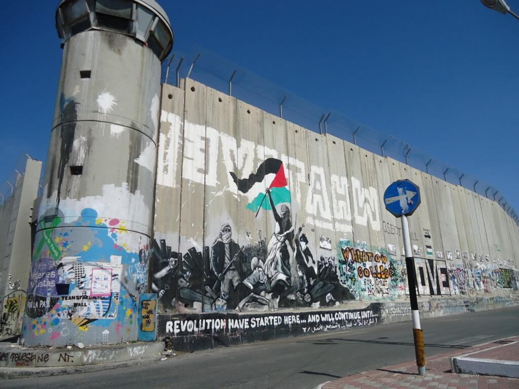 O Muro que separa Israel da Palestina