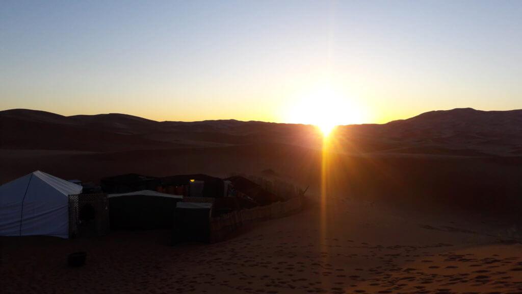 O nascer do sol também foi um espetáculo, mas estava bem frio!!