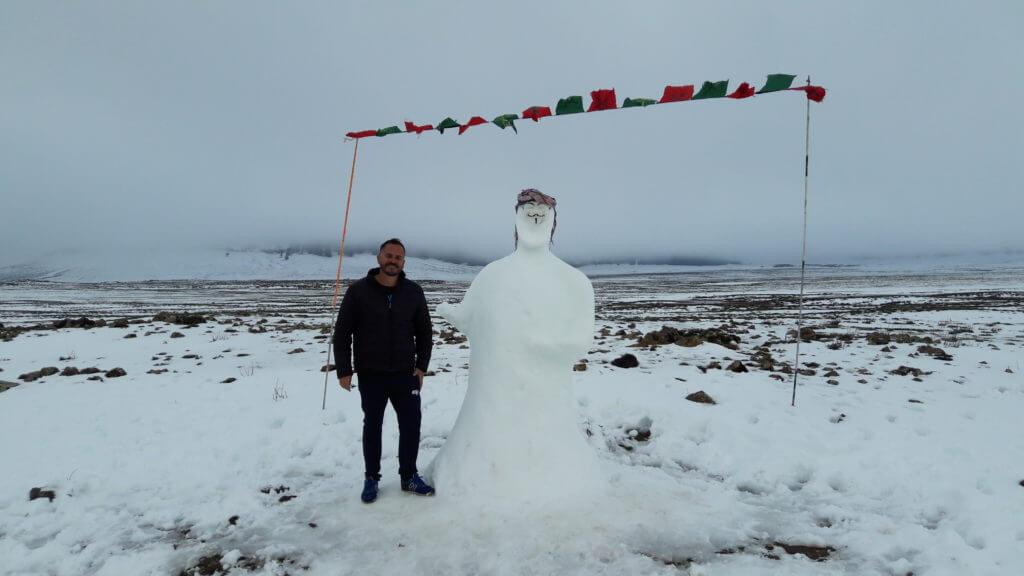 O boneco de neve muçulmano