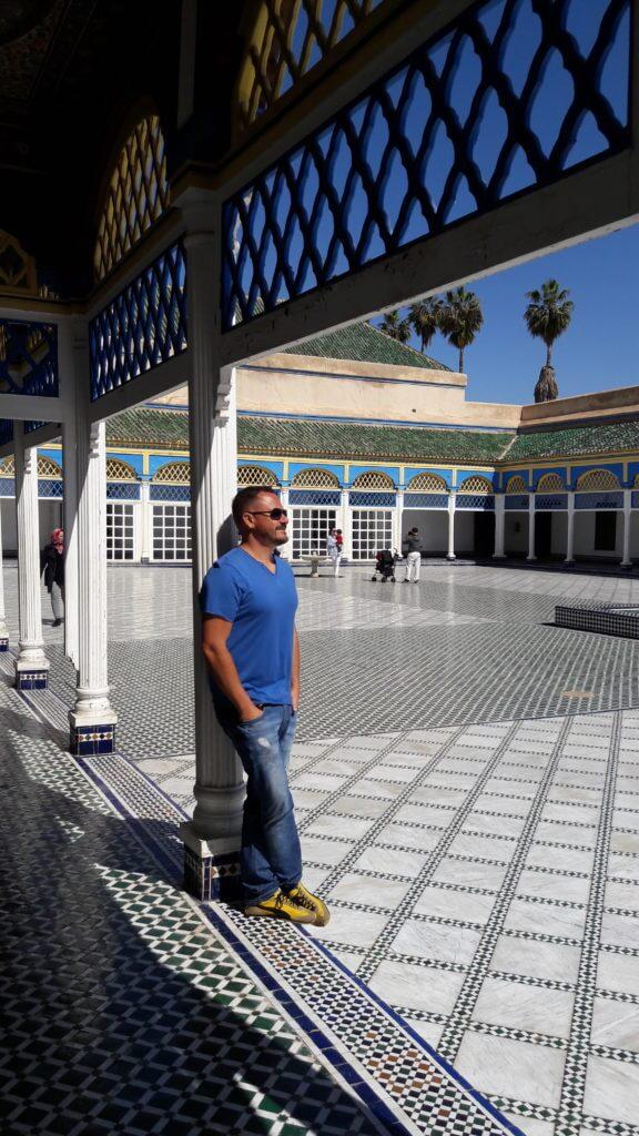 O lindo Palais Bahia é um dos pontos principais de Marrakesh