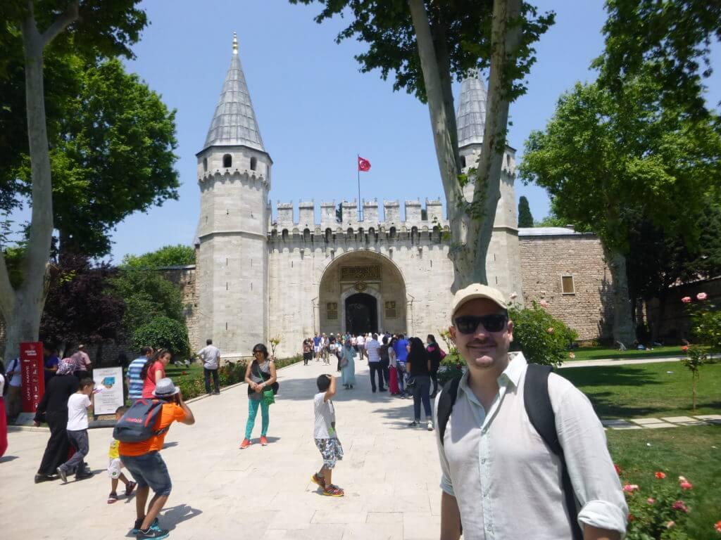 O Portão da Saudação no Palácio Topkaki