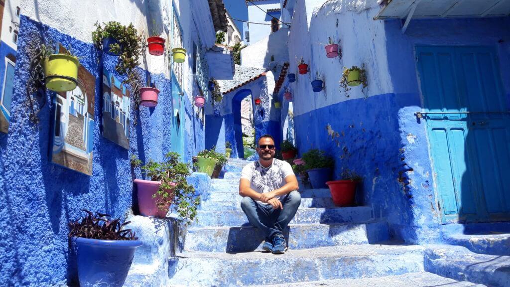 Todos os tons de azul em Chefchaouen. Como ir de Fez a Chefchaouen