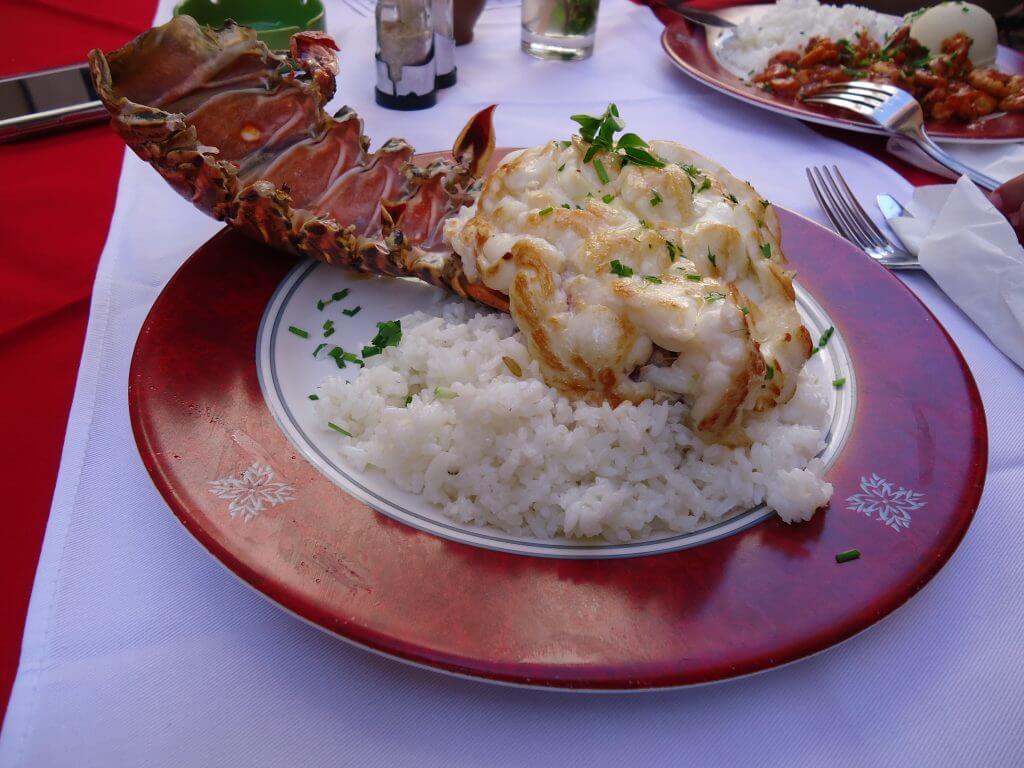 As deliciosas lagostas em Cuba