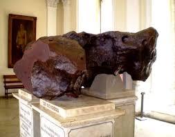 Meteoritos em exposição no Museu Nacional