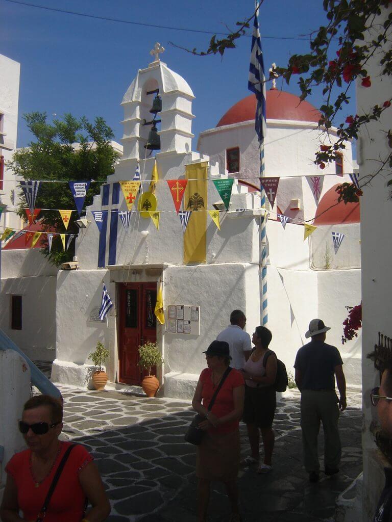 O charme das casas brancas em Mykonos