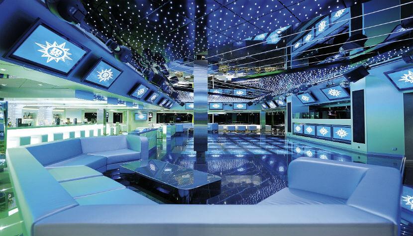 A discoteca é outro lugar animado no navio. Crédito: www.cvc.com.br