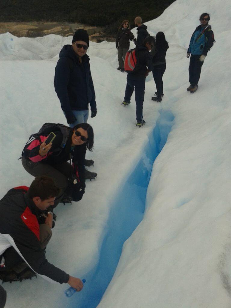 Que tal provar a água puríssima do derretimento do glaciar ?