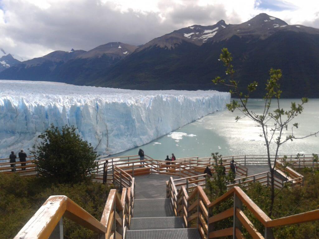 A vista do Glaciar deste as passarelas