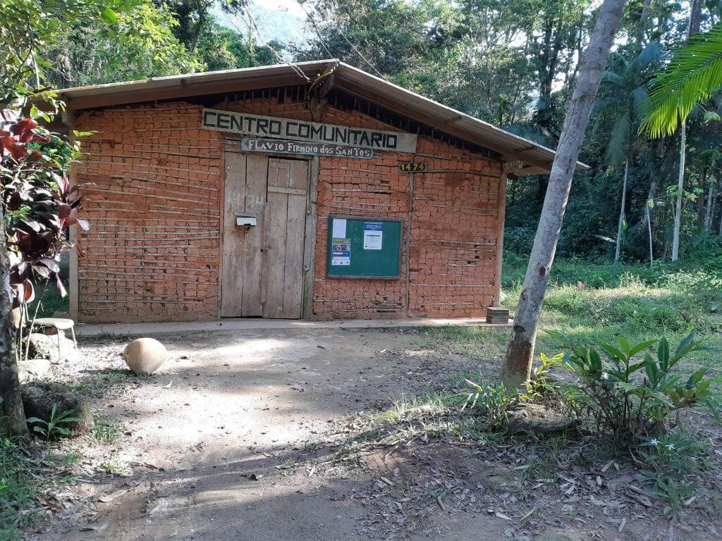 O Centro Comunitário do Quilombo da Caçandoca