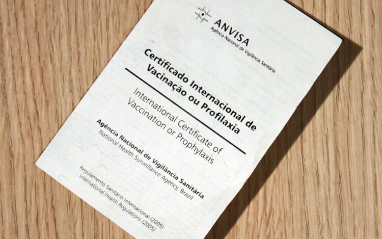 Certificado Internacional de Vacinação e Profilxia. Crédito: anvisa.portal.gov.br