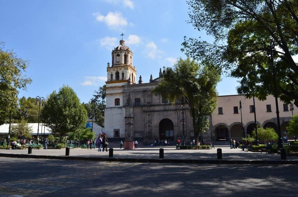 A Igreja de San Juan Bautista em Coyoacán