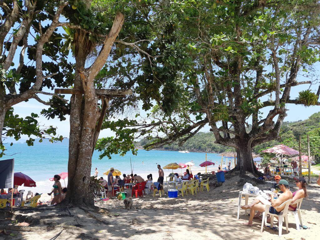 Um dia de verão na Praia da Caçandoca