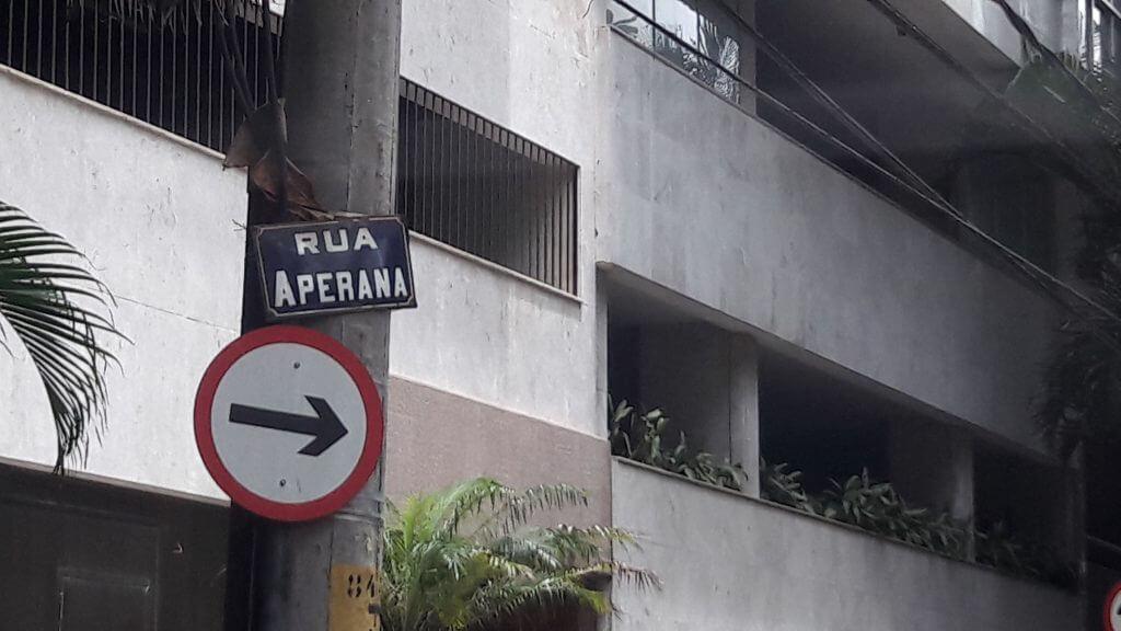 A Rua Aperana no Leblon