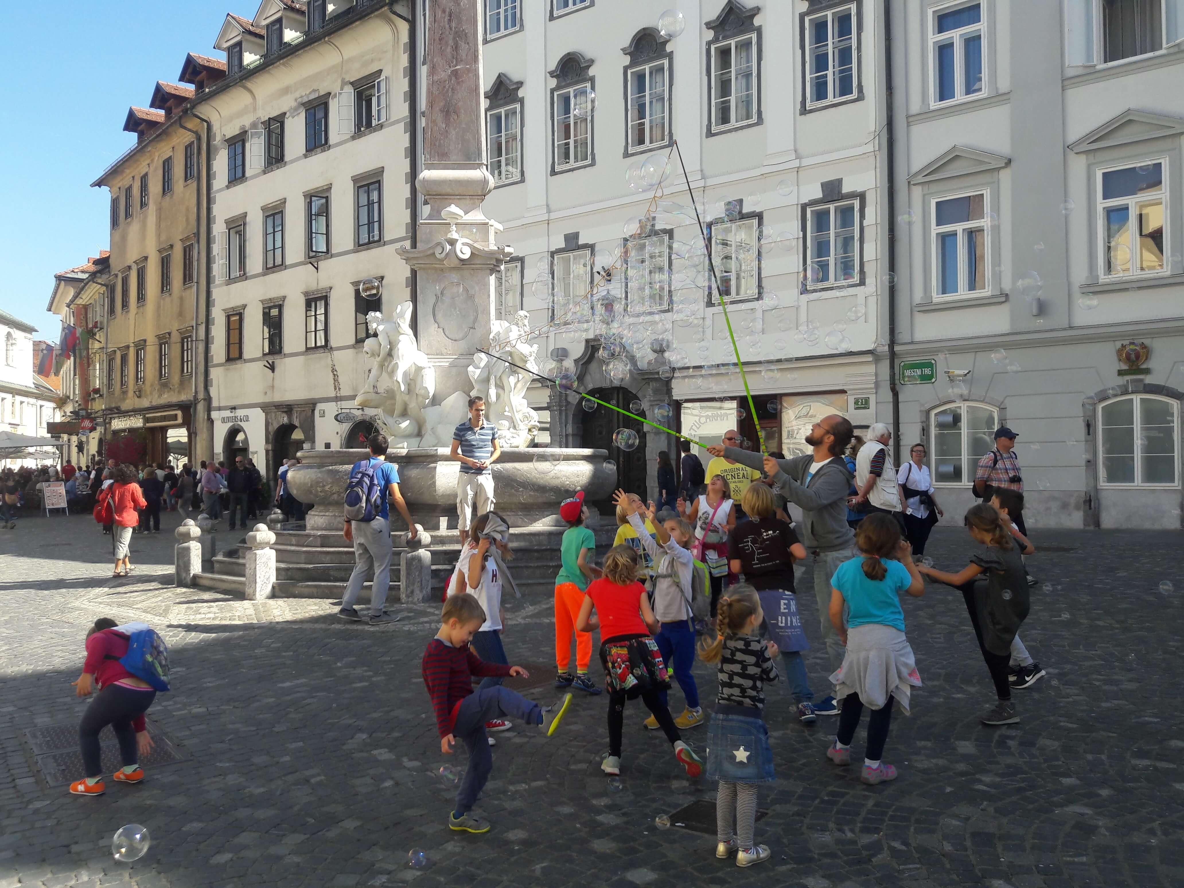 Pelas ruas da Antiga Liubliana