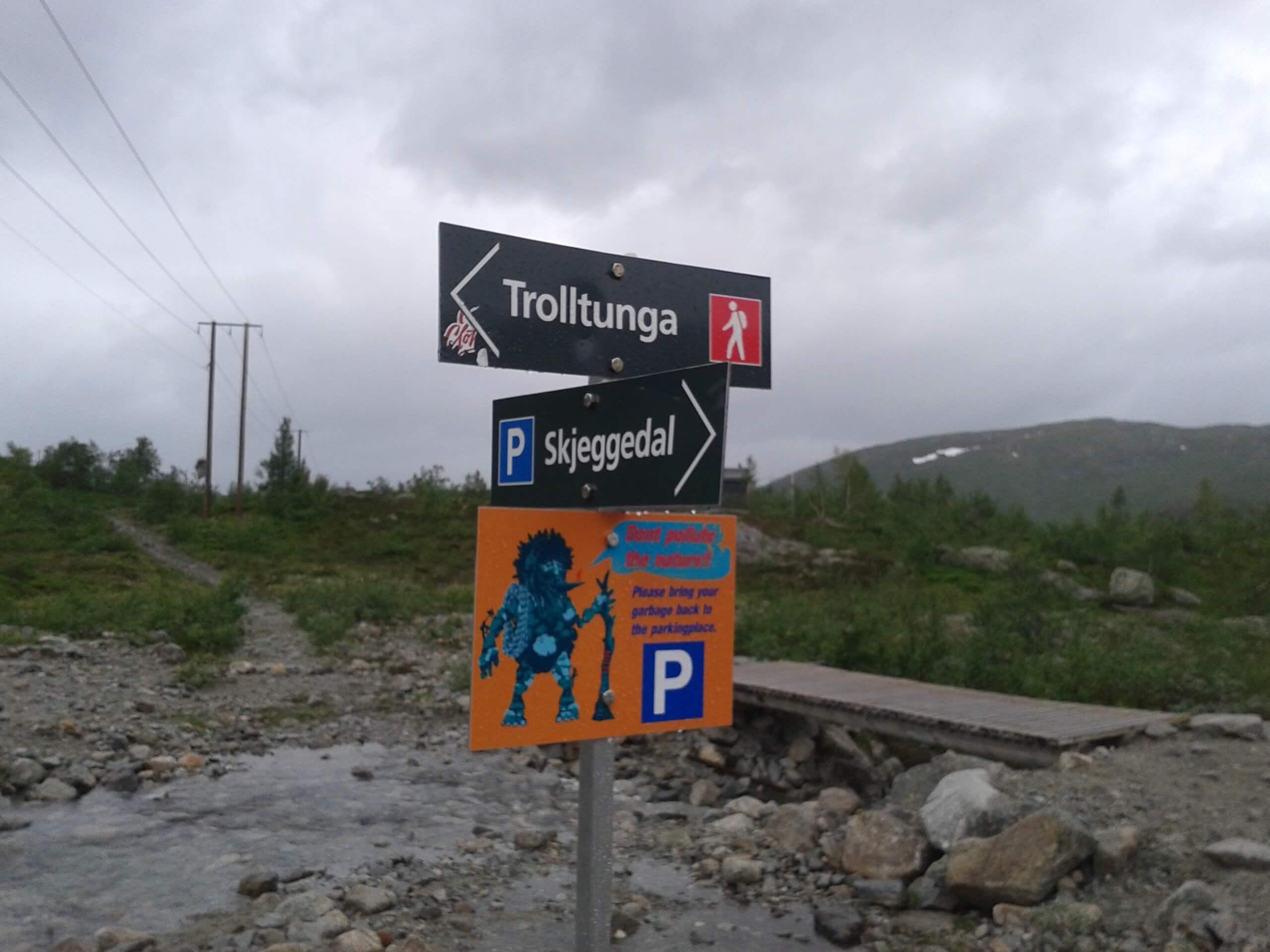 Indicação trilha Trolltunga