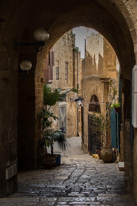 Ruas estreitas de Jaffa