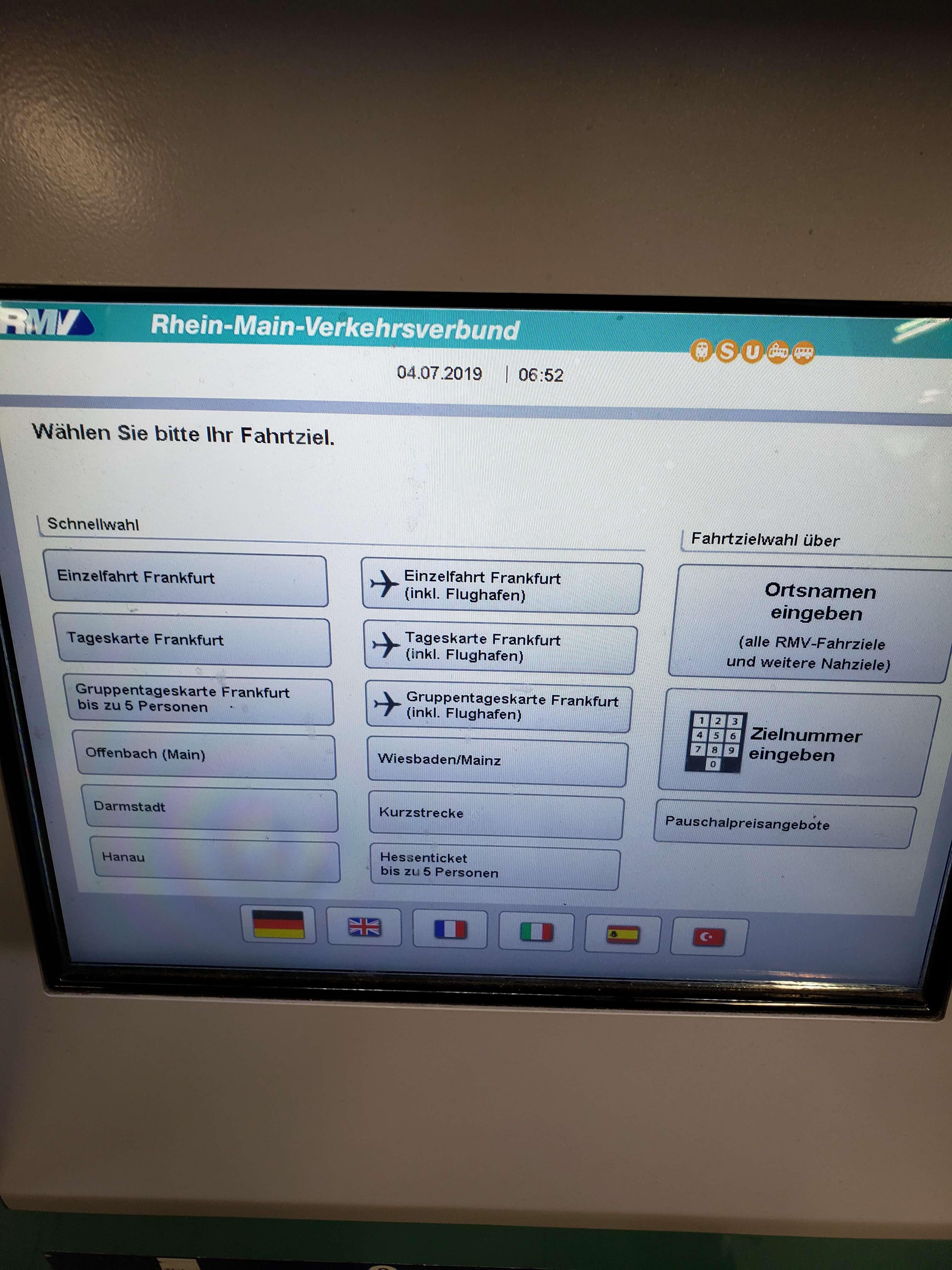 Máquina ticket Alemanha